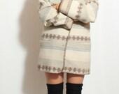 Navajo Wool Oversized Blazer Coat - Pendleton Style-  Size Large
