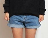 SALE - Cutoff Denim Shorts - Medium Large