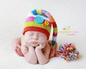 The Giggle Colorful Knit Hat - Newborn Photo Prop - Baby Gift - Newborn Size