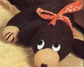 Doggie draft Excluder knitting pattern pdf