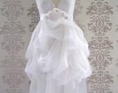 Wedding Gown Wedding Dress Reception Dress Alternative Wedding Dress : MADEILENA White Floral Lace Romantic Bridal Dress Custom Size