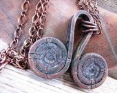 Dawa...Antique Ethiopian Copper Pendant