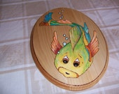 Child's Room Decor of Little Lost Fish Plaque, Colorful and Cute