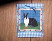 Quitled Rabbit Wall Hanging