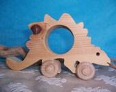 Toy Wood Stegosaurus Dinosaur Animal for Children, Kids