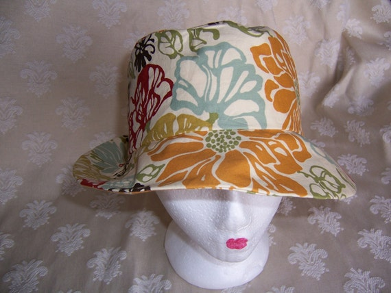 Sun Hat Handcrafted with a Fun Floral Print