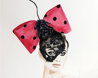 Couture Mask Head Piece by Arturo Rios. Enhanced Matte Print. Large Format