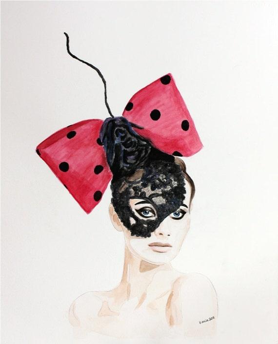 Couture Mask Head Piece by Arturo Rios. Enhanced Matte Print. Large Format