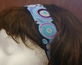 1 1/2 inch Purple and Blue Wave StayPut Headband