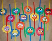 Sesame Street Inspired Party Straws (set of 14)