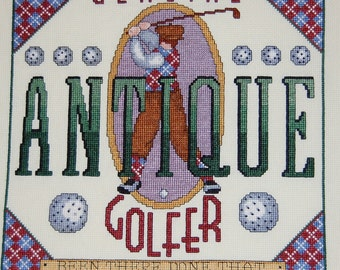 Antique Golfer Cross Stitch