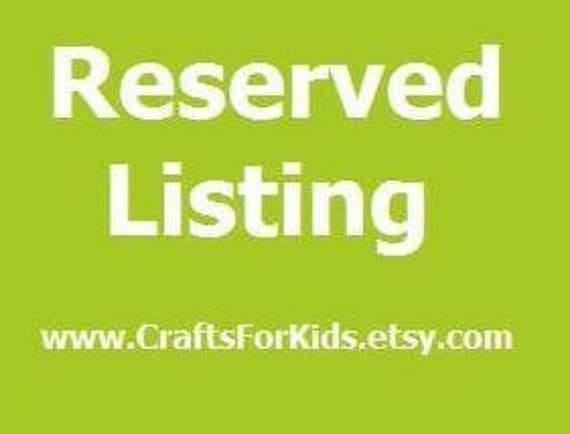 Reserved Listing for mitzikalin