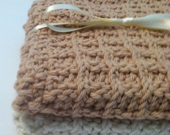 Hand Knit Cotton Wash Cloths in Neutral Tones Quiltsy Handmade