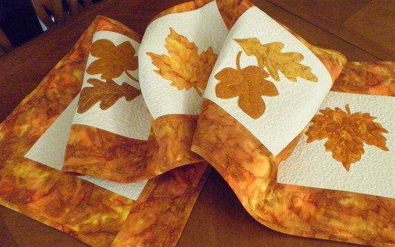 Table Runner Autumnal Leaves of Kell No. 2 Made to Order