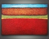 Abstract Landscape Painting - 50% OFF SALE -  24 x 36 Heavy Texture Acrylic on Canvas