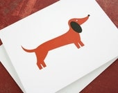 Dachshund card. Blank for own personal message