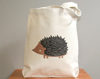 Canvas tote bag, hedgehog.