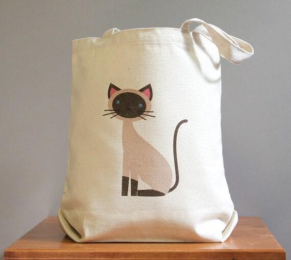 Siamese canvas tote bag, cute and adorable. Sturdy 100% 10oz. cotton canvas.