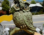 Large Vintage 1970s Owl Wall Hanging