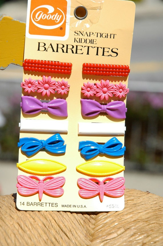 Vintage 1980s Goody Barrettes- set of SIX