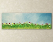 Mini Flower Painting : Landscape Art Modern Contemporary FREE SHIPPING