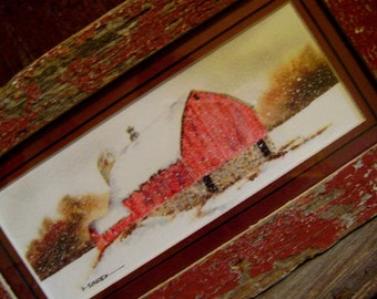 Rustic Red barn print for Fathers Day