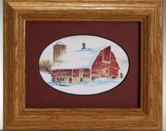 Little Rustic Farm... for Christmas (Framed 4x8)