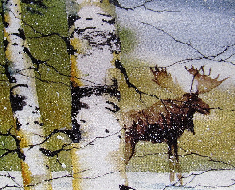Moose Print In Winter Forest By Tomsoucek On Etsy