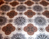 Vintage blue and brown flowered fabric