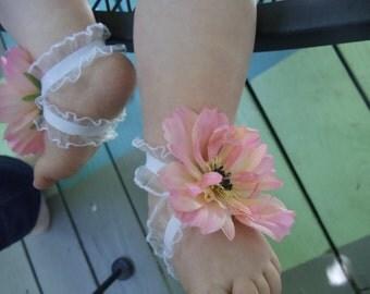 Darling Barefoot Baby Toe Blooms