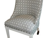Rolling Office Chair with Charcoal Geometric Pattern - Free shipping