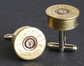 Brass 20 guage Shotgun Shell Cufflinks Number 6 wedding, stocking stuffer, mens gift