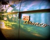 1972 Classic Ford Bronco Logo Fine Photography Print