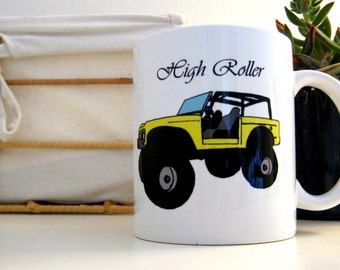 High Roller Lifted Ford Bronco Illustration Ceramic Mug
