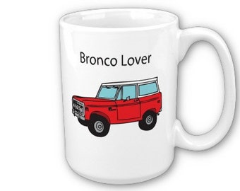 Classic Ford Bronco Lover Illustration Ceramic Mug
