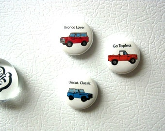 66-77 Classic Ford Bronco Magnets (Set of Three)