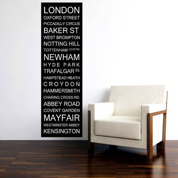 London Bus Scroll, UK Subway Sign, Bus Blind, British Banner Roll, Tram Scroll Vintage Style Destination Art Canvas