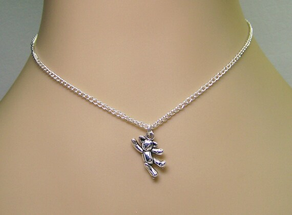 Girl,  Baby, or Toddler Teddy Bear Necklace Free Shipping