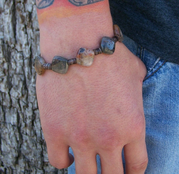His Agate Gemstone Bracelet Free Shipping