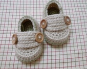 Two button loafers baby booties (size 0-3m, 3-6m, 6-9m, 9-12m) available in different color