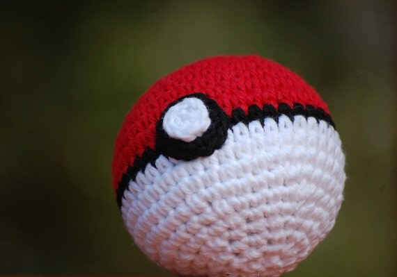 Amigurumi Master Ball : Pokeball Amigurumi Pokemon Plush Ball Toy by ...