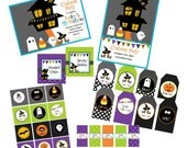 Printable Halloween Collection Haunted House Costume Party