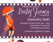 Printable Modern Mom Baby Shower or Baby Sprinkle Invitation