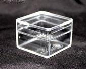 12 pcs. Small Square Boxes Clear Plastic Box