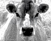 Cow  digital stamp