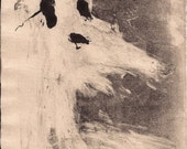 "Radiohead Art Monoprint ""A Wolf at the Door"""