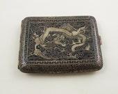 Vintage Japanese Mixed Metal Cigarette Case