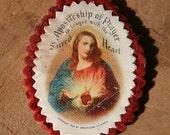 Catholic Sacred Heart Scapular - Iconic Religious Item - 100 Day Indulgence