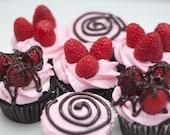 Chocolate Raspberry Cupcakes (vegan)