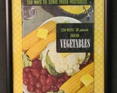 Sale Framed Art Fresh Vegetables Framed Cookbook